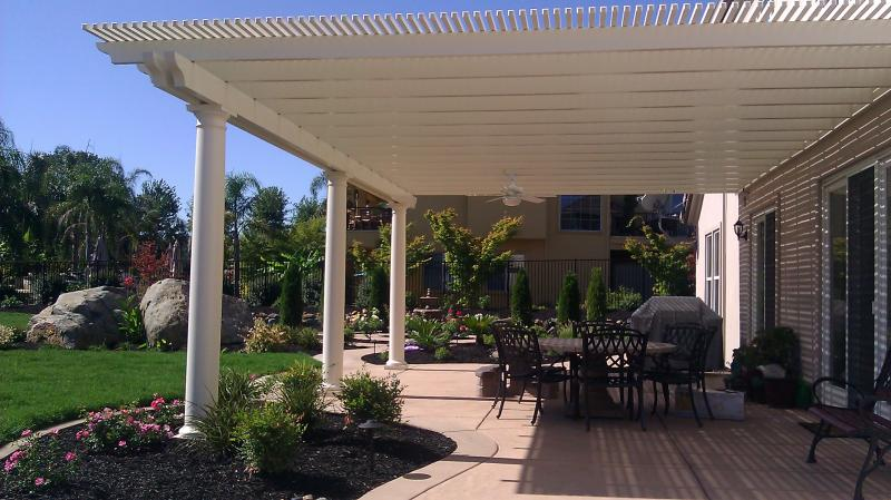 Open Lattice Pergola in El Dorado Hills