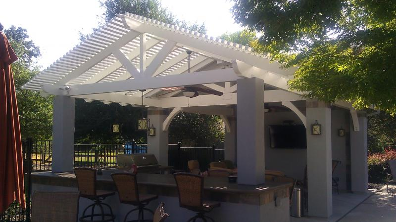 Gable Lattice Patio Cover Roseville