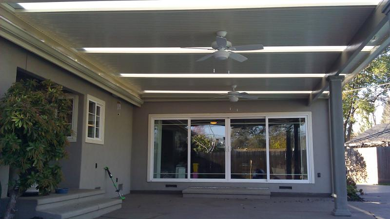 Skylights in Solid Patio Cover Sacramento